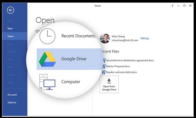 Wtyczka Google Drive dla Microsoft Office