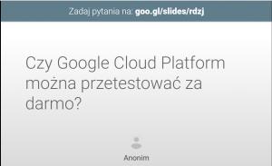 Automatyczny slajd z pytaniem