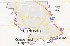 Mapa Clarksville