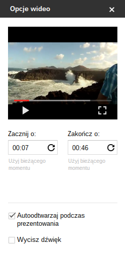 GoCloud.PL Opcje odtwarzania wideo