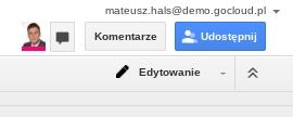 Czaty w dokumentach Google 1