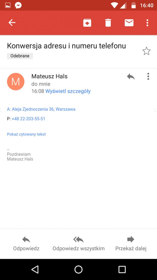 Linki w mailu