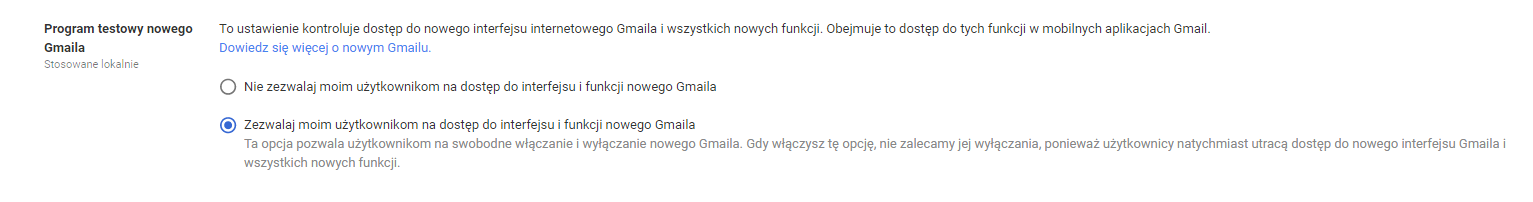 GoCloud.PL Nowy Gmail